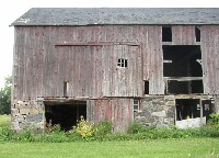 Rear view of barn at Sutherland-Wilson Farm