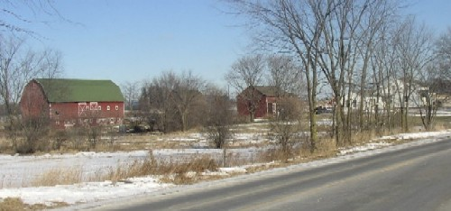 View of the Cody Farm on Textile Road