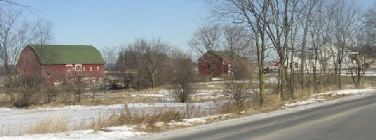 View of the Cody Farm on Textile Road (click to enlarge).