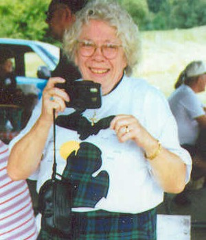 Mary Cruse, documenting an East Ann Arboer reunion