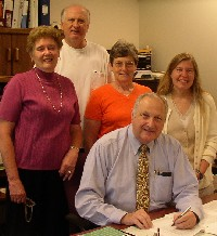 Signing Lease for Sutherland-Wilson Farm, 12 August 2004 (click to enlarge)