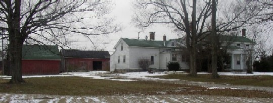 View of house and barns at Sutherland-Wilson Farm