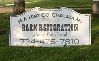 Hinz sign: Another Barn Is being Saved