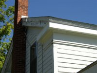 Fascia repaired on the southwest corner of Sutherland-Wilson farmounse.