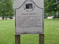 Historical Marker at Harwood Cemetery (click for larger image)