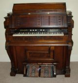 1876 Estey parlor organ in Sutherland-Wilson farmhouse.