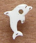 Light-up pin with dolphin design.