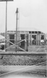 Pittsfield Junction Depot under construction in 1917