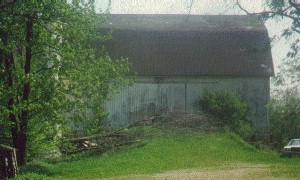 View of the Ralph Harwood Barn, Before It Was Torn Down