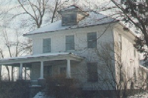 View of the Ralph Harwood House, on Its Original Site
