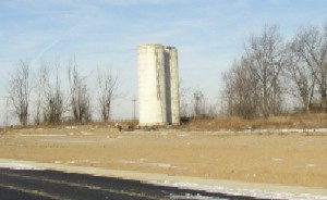 Silos on the Former Ralph Harwood Farm, Which Are Still Standing