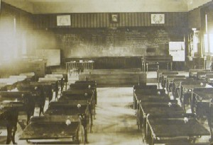 Mills School Interior in 1908