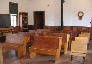 Interior of Town Hall School, as restored